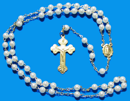 Rosary with Pearl Beads - RW7